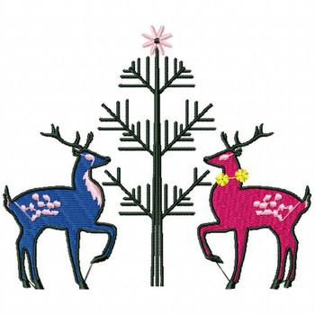 Christmas Reindeer #03 Machine Embroidery Design