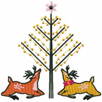 Christmas Reindeer #04 Machine Embroidery Design