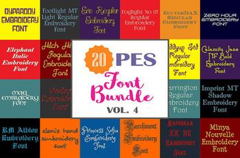 20 PES Font Bundle - Volume 4 - 20 Machine Embroidery Fonts