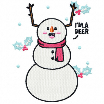 I'm a Deer  - Funny Snowman #02 Machine Embroidery Design
