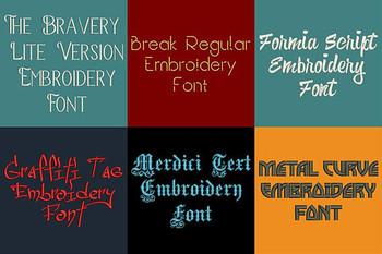 20 VP3 Font Bundle - Volume 2 - 20 Husqvarna Viking Machine Embroidery Fonts