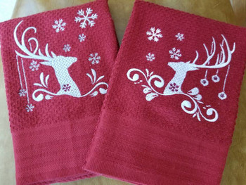 Christmas Antlers Collection of 8 Machine Embroidery Designs