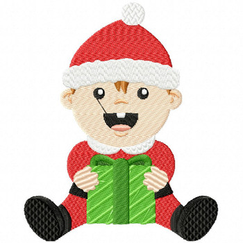 Baby Santa Claus - Christmas Baby #03 Machine Embroidery Design