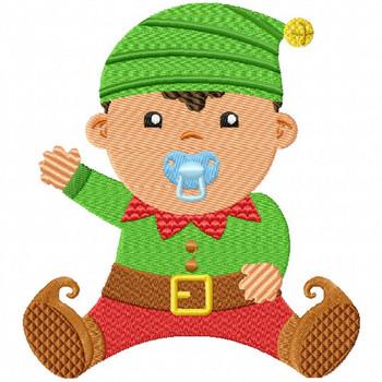 Baby Elf - Christmas Baby #04 Machine Embroidery Design