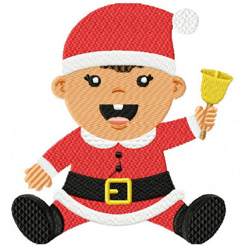 Santa Baby with Bell - Christmas Baby #06 Machine Embroidery Design