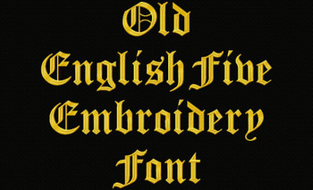 Old English Five Font