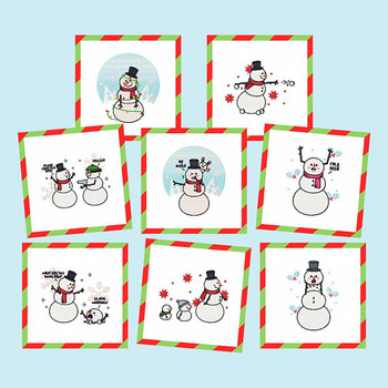Funny Snowman Collection of 8 Machine Embroidery Designs