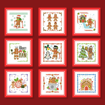 Ginger Bread Collection of 9 Machine Embroidery Designs