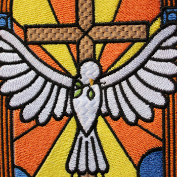 Dove Glass - Stained Glass #04 Machine Embroidery Design