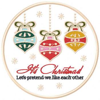 It's Christmas - Humor Christmas Patch #07 Machine Embroidery Design