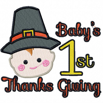 Baby's First Thanks Giving - Baby's First #04 Machine Embroidery Design