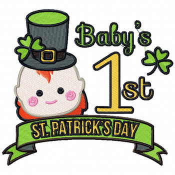 Baby's First St.Patrick's Day - Baby's First #05 Machine Embroidery Design