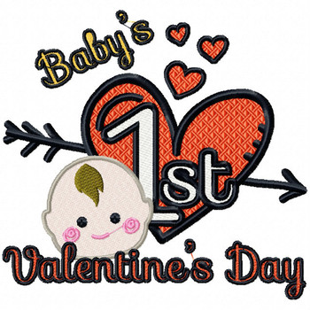 Baby's First Valentine's Day - Baby's First #06 Machine Embroidery Design