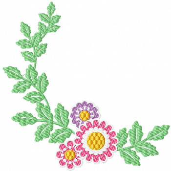 Daisy - Flower #04 Machine Embroidery Design