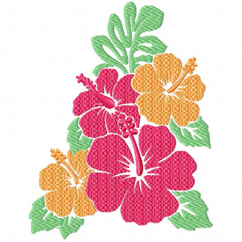 Hibiscus 1 - Flower #06 Machine Embroidery Design