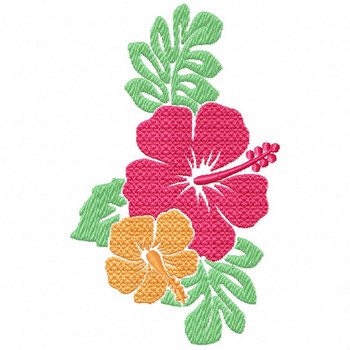Hibiscus 2 - Flower #07 Machine Embroidery Design