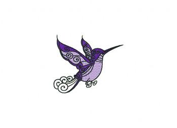 Hummingbird Machine Embroidery Design
