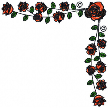 Detailed Rose Pattern Collection #13 Machine Embroidery Design