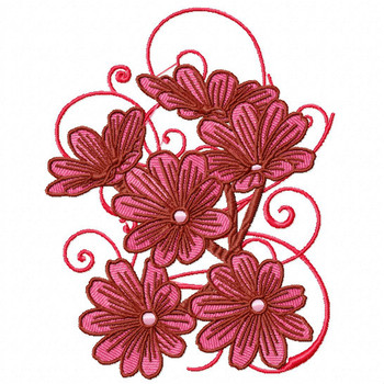 Daises - Flower #11 Machine Embroidery Design