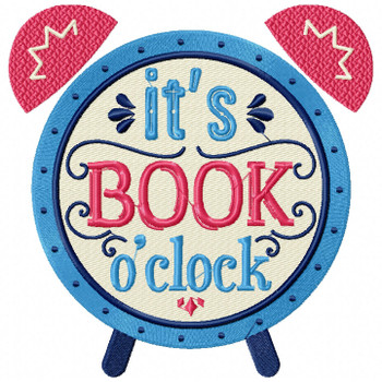 It's Book O'Clock - Reading Hobby #06 Machine Embroidery Design