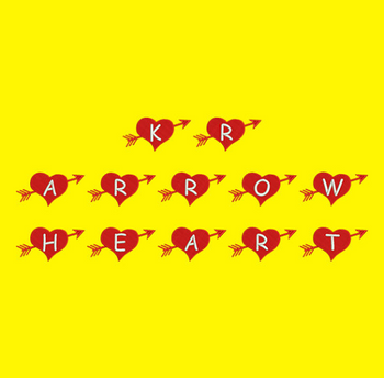 KR Arrow Heart Machine Embroidery Font Now Includes BX Format!