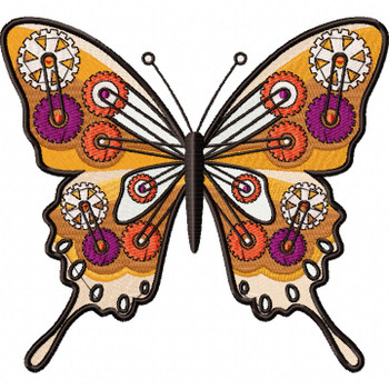 Steampunk Butterfly - Machine Embroidery Design - Steampunk Collection #15
