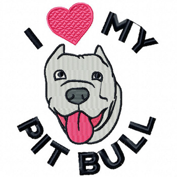 Pit Bull #01 Machine Embroidery Design