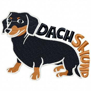 Dachshund #05 Machine Embroidery Design