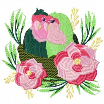 Love Birds #04 Machine Embroidery Design