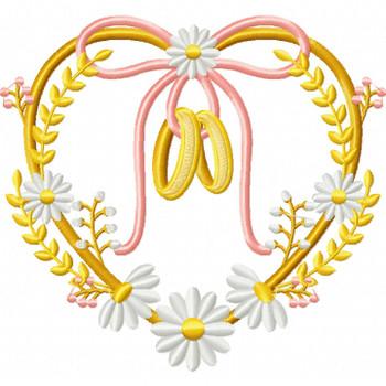 Wedding Ring #02 Machine Embroidery Design