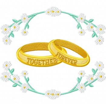 Wedding Ring #07 Machine Embroidery Design