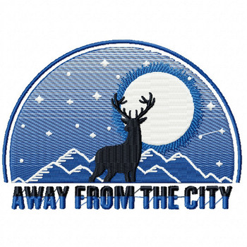 Away From The City - Machine Embroidery Design - Hiking Collection #05