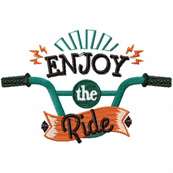 Enjoy The Ride - Cycling Hobby Collection #02 - Machine Embroidery Design