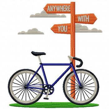 Anywhere With You - Cycling Hobby Collection #05 - Machine Embroidery Design