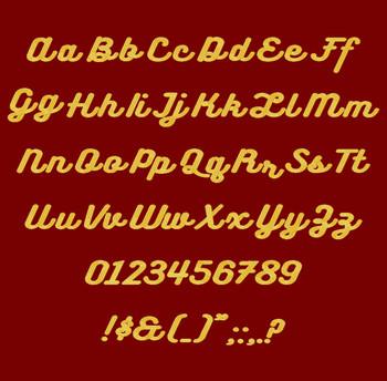 Bukhari Script Machine Embroidery Font Full Alpha