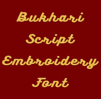 Bukhari Script Machine Embroidery Font Product Pic