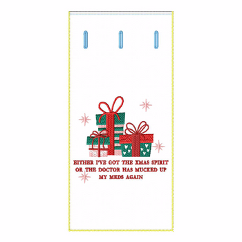 ITH Christmas Humor Wine Bag 01 - In The Hoop Machine Embroidery Design