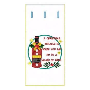 ITH Christmas Humor Wine Bag 07 - In The Hoop Machine Embroidery Design
