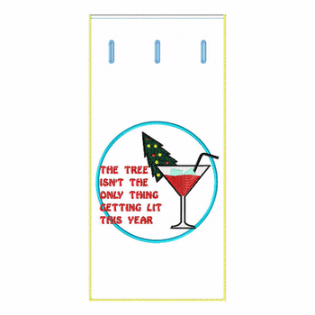 ITH Christmas Humor Wine Bag 09 - In The Hoop Machine Embroidery Design