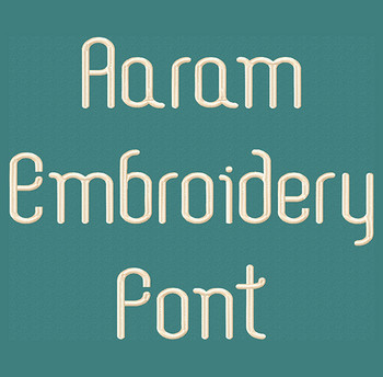 Aaram Machine Embroidery Font Product Pic