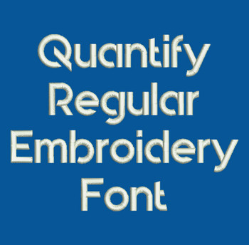 Super Sleek - Quantify Regular Embroidery Font Now Includes BX Format