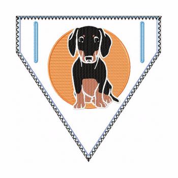 Dachshund Doggie Bandana 01 - In The Hoop Machine Embroidery Design