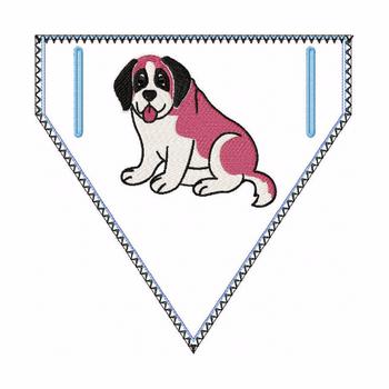 St. Bernard Doggie Bandana 03 - In The Hoop Machine Embroidery Design