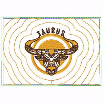 Taurus Zodiac Small Money Purse - In The Hoop Machine Embroidery Design