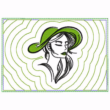 Modern Ladies 03B Small Money Purse - In The Hoop Machine Embroidery Design