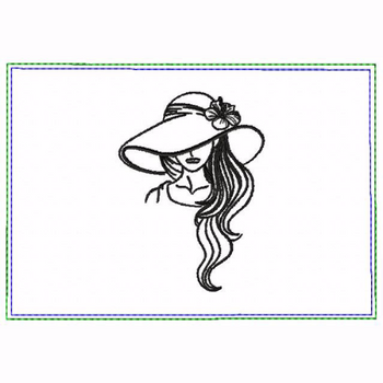 Modern Ladies 04A Small Money Purse - In The Hoop Machine Embroidery Design