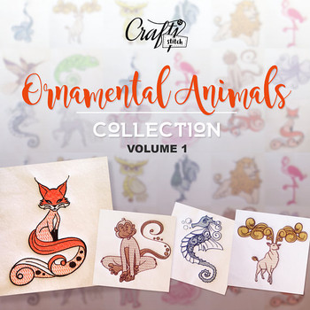 Ornamental Animals Collection Vol. 1, 10 Machine Embroidery Designs