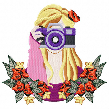 irl with Camera Machine Embroidery Design - Photography Hobby #05