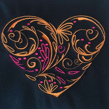 Abstract Heart Swirls #04 Machine Embroidery Design
