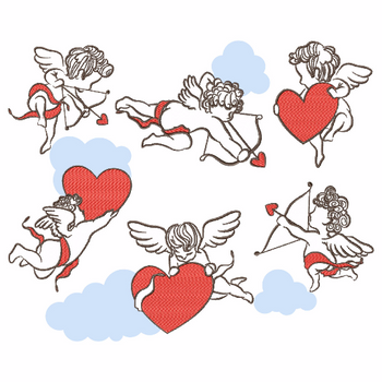 Cupid Collection of 6 Machine Embroidery Designs